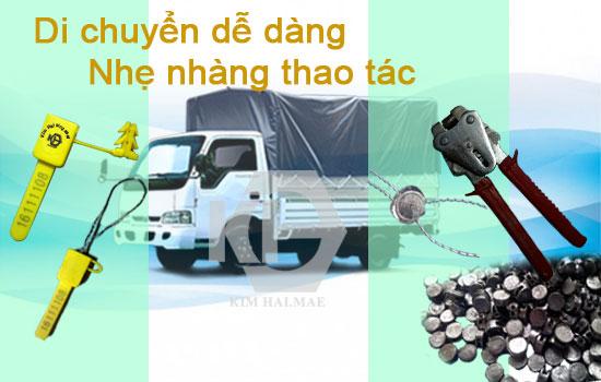 kẹp chì niêm phong cửa thùng xe tải bạt dễ thao tác
