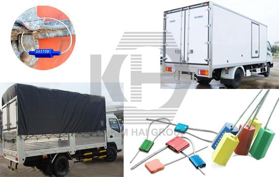 dây cáp niêm phong đầu nhựa dùng cho cửa xe tải