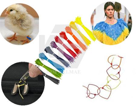 dây rút nhựa màu sử dụng để đánh dấu hàng, phân loại hàng hóa